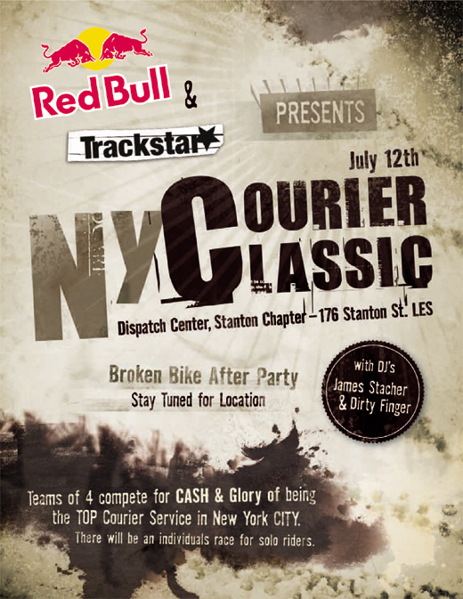 NYC courier classic trackstar red bull race