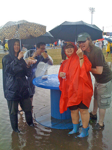 The best thing about rainstorms at Jazzfest?
