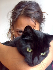 Teuntje and me (Aisha Reehuis) Tags: black eye home me cat eyes ogen zwart enschede selfpotrait zelfportret poes ik aisha oog i reehuis