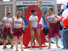 Toronto Gay Pride Parade 2008 (S.S.Poseidon) Tags: toronto canada dancing balloon pride parade speedo torontoon torontogayprideparade canfar