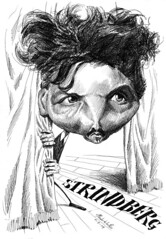 STRINDBERG, August (Morales de los Ros) Tags: writers caricaturas philosophers caricatures escritores filsofos