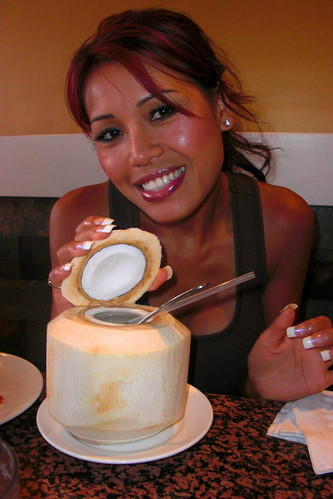 Brandy with coconut drink