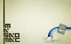 Sad Mac 2 (Pixel Fantasy) Tags: blue wallpaper apple clouds macintosh dead rainbow mac sad tech cartoon font type