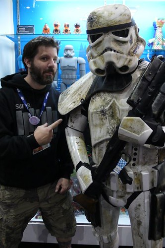 From left to right: Brian Flynn, Kotobukiya Stormtrooper, real life Stormtrooper