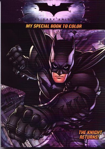 Front cover of The Knight Returns coloring book