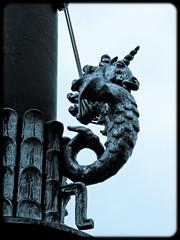 (gothicburg) Tags: fish göteborg seahorse sweden gothenburg sverige flagpole unicorn gustavadolfstorg olympusc5050z seaunicorn