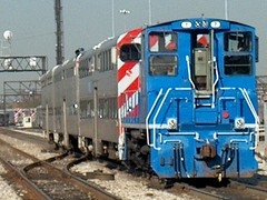 Metra coach yard switcher at work. Chicago Illinois. October 2006.