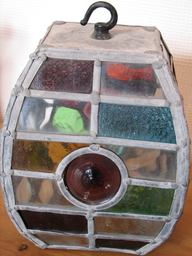 Stained glass porch lampshade