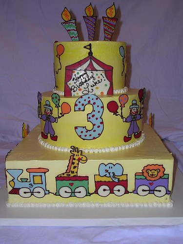 Under the Bigtop Birthday Cake