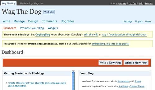 Thanks EduBlogs! Thanks James!