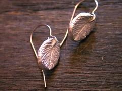 Leaf earrings (bbel-uk) Tags: wood tree nature leaves forest silver leaf branch ring earrings bbel
