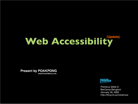 Web Accessibility (update)