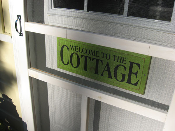 welcome to the cottage