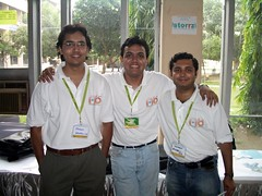 The founders of ApnaBill - from left, Mayank, Samir and Sandeep.