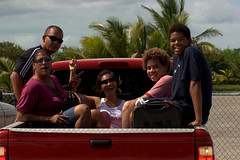 family members corraled aboard truck in true family island fashion. (KingoftheHill.) Tags: vacation people losangeles longisland caribbean middleofnowhere thebahamas familyislands wwwdevanwellsblogspotcom devanwells