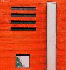 Red wall (Steve-h) Tags: ireland windows red dublin metal wall reflections grey bricks finepix fujifilm templebar steveh s100fs ventilationvent mygearandmepremium mygearandmebronze mygearandmesilver mygearandmegold mygearandmeplatinum mygearandmediamond