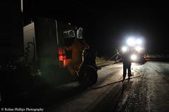 Night lights (Rohan Phillips) Tags: night truck lights big nikon crash accident australia scene semi rig vehicle trucks trailer heavy winch tow f28 recovery trucking towing kenworth 1755 d300 wrecker truckworks t908