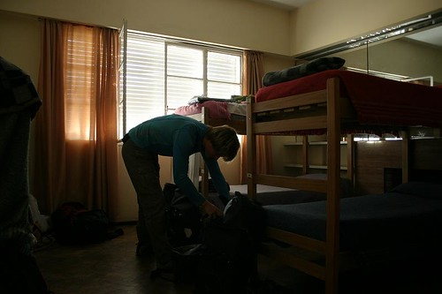 Packing my stuff in the great Alamo Hostel, Mendoza - Argentina