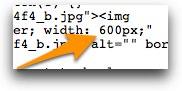 Blogger change width of images