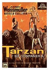 Tarzan y su compañera (jovisala47) Tags: cinema cine richard thorpe posters johnny maureen movies tarzan afiche cartel compañera osullivan carátula película weissmuller
