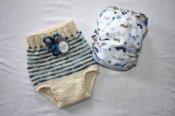 Natural Stripes - soaker & diaper set - small