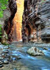 Zion Narrows (Rob Kroenert) Tags: park usa water creek river utah stream hike virgin national zion zionnationalpark narrows