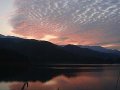 宮ヶ瀬湖の夕焼け