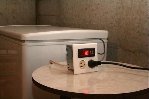 Contrôleur de température en action