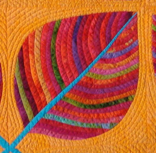 The Leaf Quilt detail by Laurie Evans