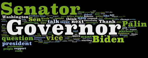 Gwen Ifill VP Debate Word Cloud