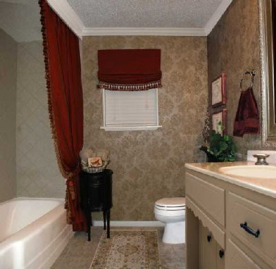 And By The Way If You Look Really Closely At Photo Just Above Can See Shower Curtain Liner Barely Peeking Out To Left Of