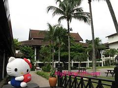 Hello Kitty at Entrance Block of Saujana Hotel, Kuala Lumpur, Malaysia