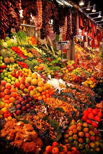 Vackra fruktfärger i Barcelona