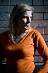 Anna Rozen (02) - 23Oct08, Paris (France) (]) Tags: portrait anna orange woman girl photo official order photographie femme blond blonde pro writer cry author yell rozen cri photographe auteur crivain officiel annarozen
