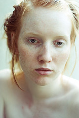 pale portrait of malina [identity] (mariehochhaus) Tags: portrait girl nude skin pale freckles redhair malina porcellain audel identityproject