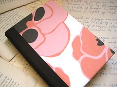 Poppies Journal/Notebook - Medium (boundto) Tags: pink brown writing paper notebook book handmade diary journal books sketchbook poppy poppies etsy bound bookbinding handbound boundbook boundto bookbindingteam