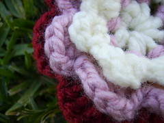Close-up of Crochet Flower