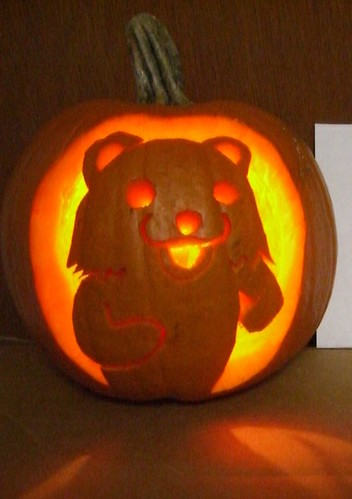 pedobear pumpkin light