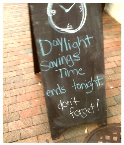 Don't Forget Daylight Savings Time