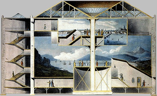 Section of the Rotunda, Leicester Square IN: 'Plans, and Views in Perspective'  - Robert Mitchell 1801