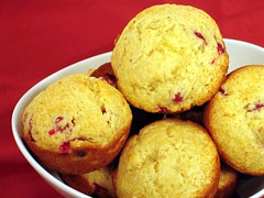 fresh cranberry muffins 1