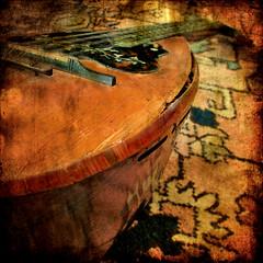 My wounded mandolin (shastadaisy~) Tags: music platinumphoto infinestyle antiqueinstrument proudshopper awardtree dragondaggerphoto mywoundedmandolin florentinemandolin