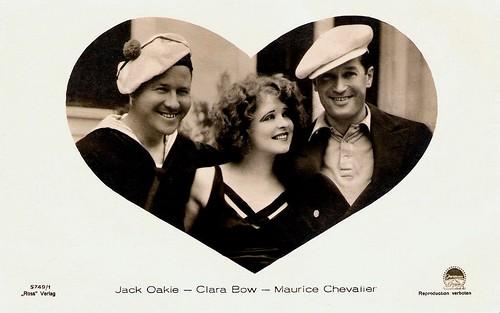 Jack Oakie, Clara Bow, Maurice Chevalier