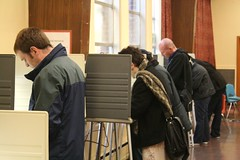Voting at Lowell School