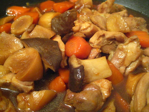 Braised Chicken with Mushrooms and Carrots