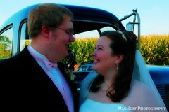 an iowa wedding (meghuff) Tags: wedding summer love field corn cornfield smiles pickup august iowa mhp ejwedding iowawedding