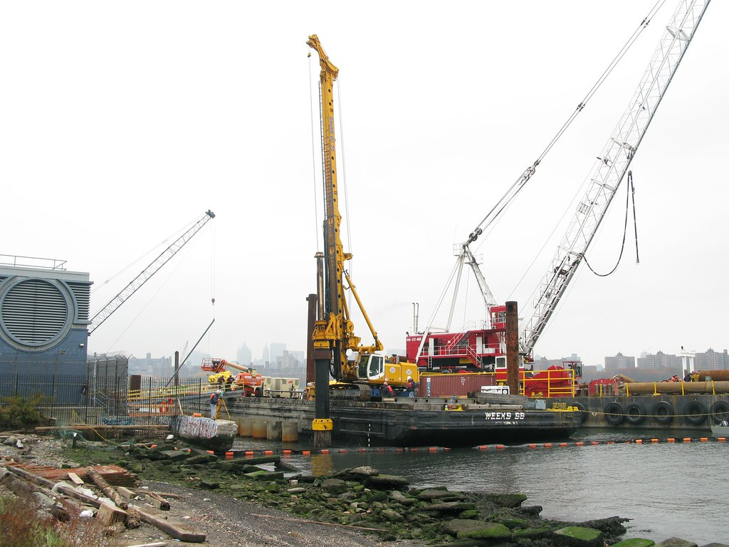 ferry pier underway