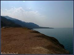 Dead Sea (Ria Rotscheidt) Tags: sun colors clouds river vakantie sand holidays colorful desert salt wolken jordan deadsea zon jordanriver jordaan zand kleurrijk jordanie kleuren woestijn rivier zout dodezee worldtrekker