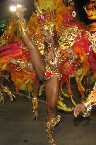 Grand Rio samba dancer lights many fires