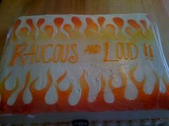 raucous flames